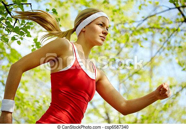 κορίτσι , αθλητισμός  - csp6587340