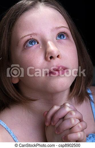 κορίτσι , εκλιπαρώ , νέος , κλαίων  - csp8902500