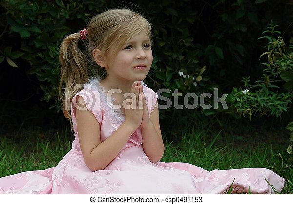 κορίτσι , εκλιπαρώ  - csp0491153