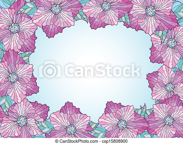 κορνίζα , λουλούδι  - csp15808900