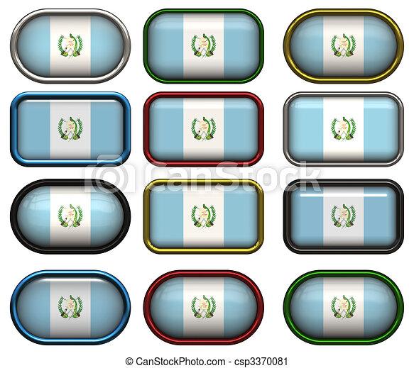 κουμπιά , δώδεκα , σημαία , γουατεμάλα  - csp3370081