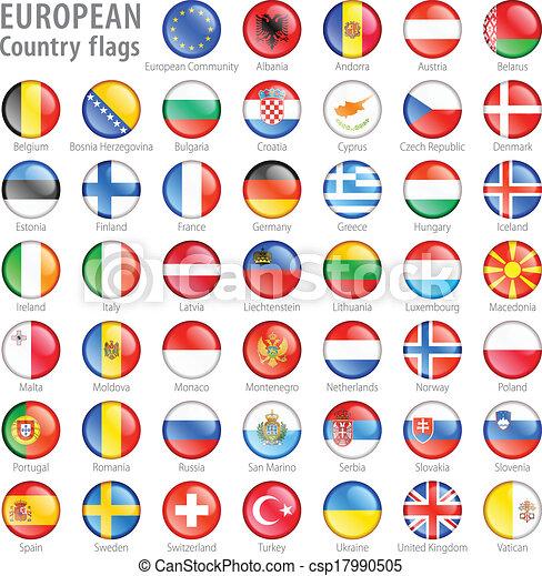 κουμπιά , εθνικός , θέτω , σημαία , ευρωπαϊκός  - csp17990505