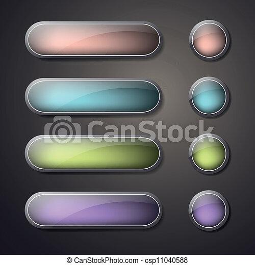 κουμπιά , ιστός , θέτω , μικροβιοφορέας , κενό  - csp11040588