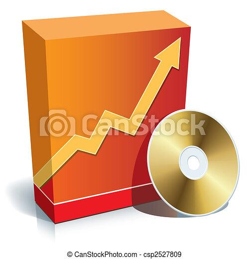 κουτί , λογισμικό , cd  - csp2527809