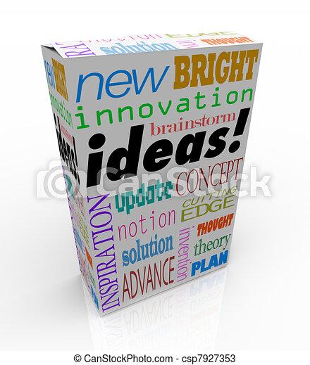 κουτί , προϊόν , γενική ιδέα , αντίληψη , innovative , έμπνευση , έμπνευση  - csp7927353