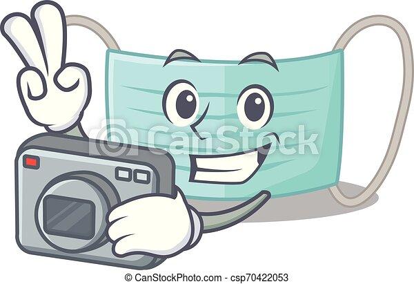 κουτί , φωτογράφος , surigcal, μάσκα , γελοιογραφία  - csp70422053