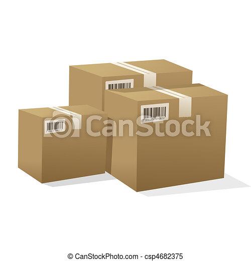 κουτιά , χαρτόνι  - csp4682375