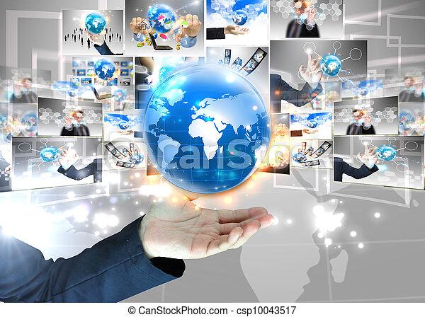 κράτημα , επιχειρηματίας , .technology, κόσμοs , γενική ιδέα  - csp10043517