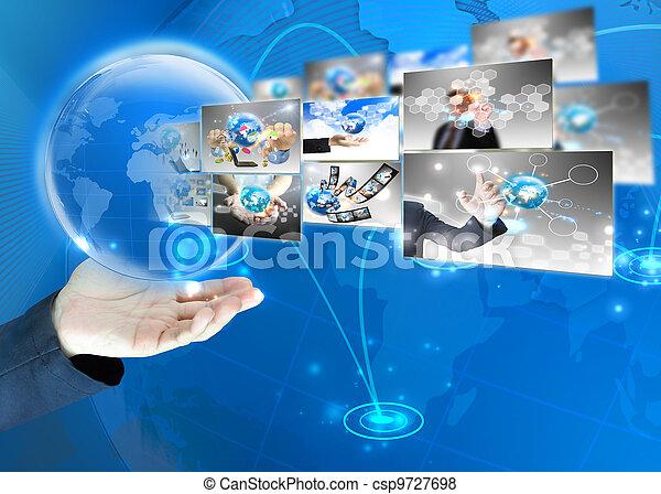 κράτημα , επιχειρηματίας , .technology, κόσμοs , γενική ιδέα  - csp9727698