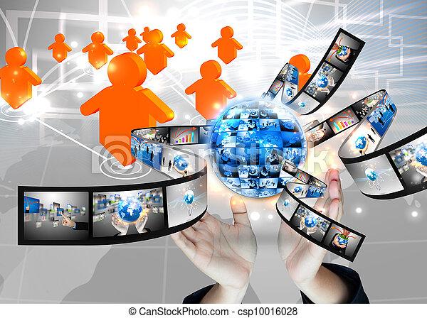 κράτημα , επιχειρηματίας , .technology, κόσμοs , γενική ιδέα  - csp10016028