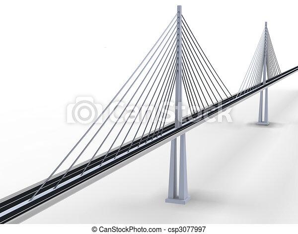 κρεμαστή γέφυρα  - csp3077997