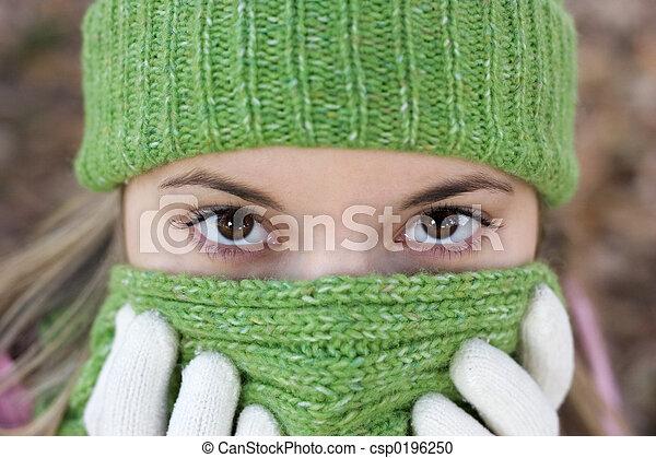 κρύο , γυναίκα  - csp0196250