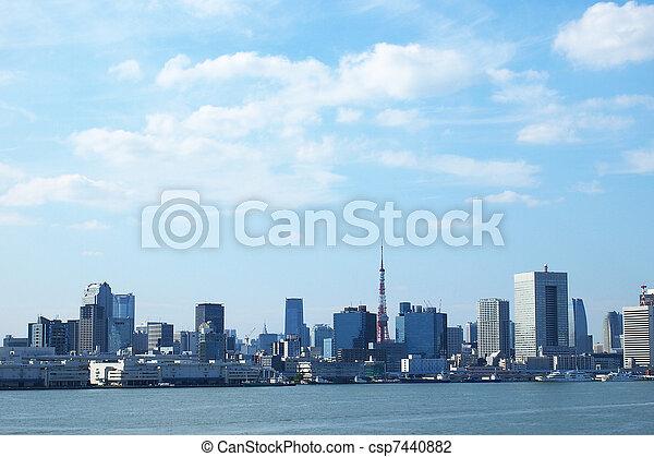 κτίρια , τόκιο , κόλπος  - csp7440882