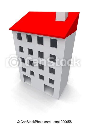 κτίριο , κατοικητικός  - csp1900058
