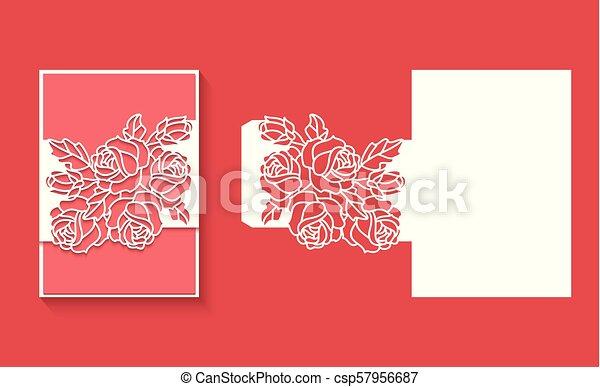 κόβω , λέηζερ , πρόσκληση , φάκελοs , card5.eps, φόρμα , γάμοs  - csp57956687