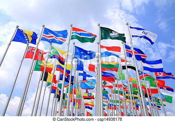κόσμοs , εθνικός , σημαίες  - csp14938178