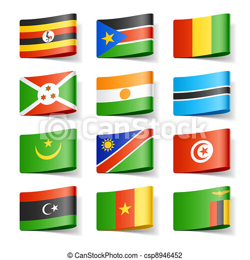 κόσμοs , flags., αφρική.  - csp8946452