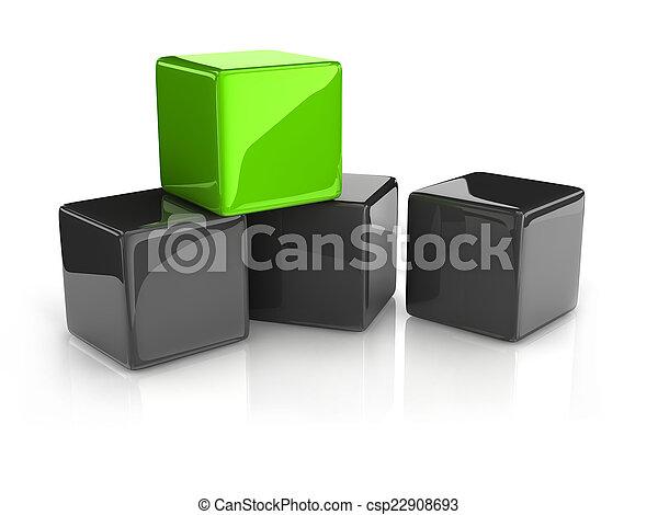 κύβος , πράσινο  - csp22908693