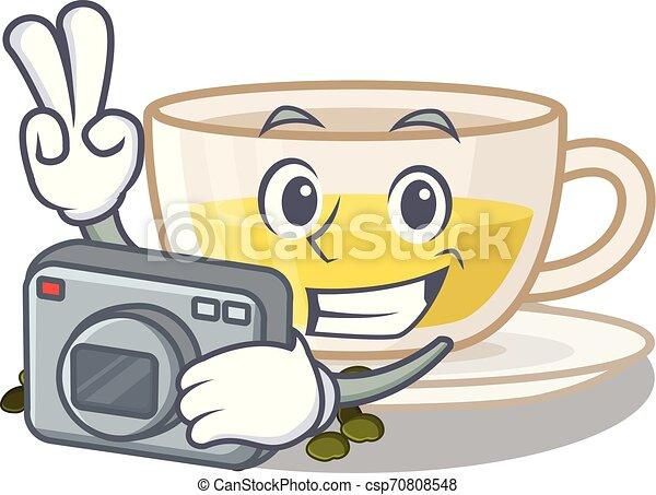 κύπελο , τσάι , σχήμα , oolong, φωτογράφος , γελοιογραφία  - csp70808548