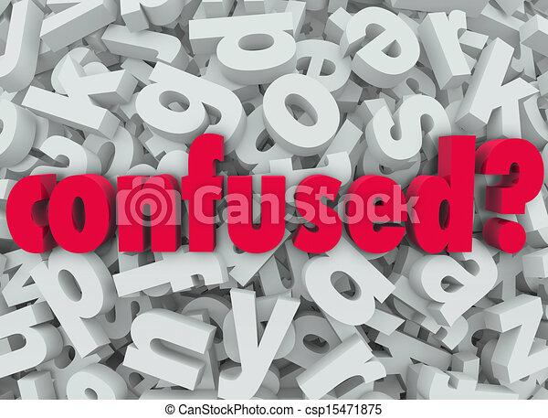 λέξη , γράμμα , αόρ. του lose , σύγχυσα , disoriented , φόντο  - csp15471875
