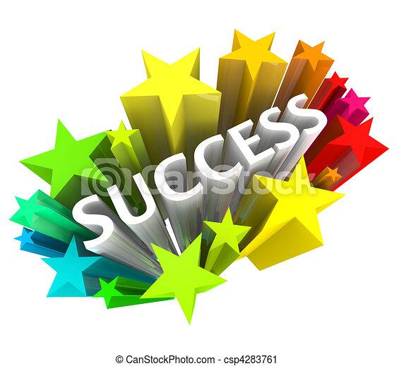 λέξη , επιτυχία , γραφικός , περιβάλλω , - , αστέρας του κινηματογράφου  - csp4283761