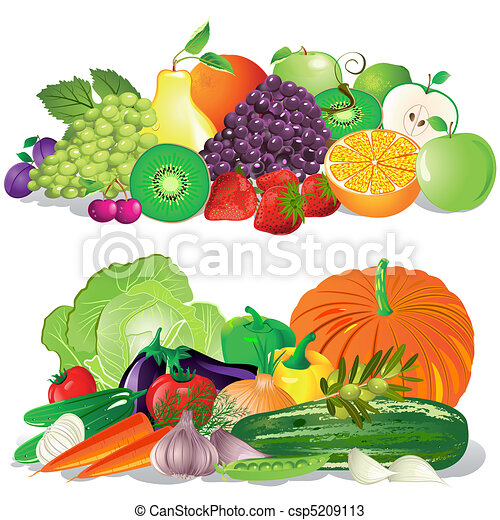 λαχανικά , φρούτο  - csp5209113
