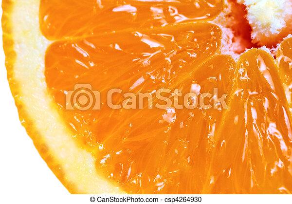 λεπτομερής , macro , δείγμα , φρούτο , πορτοκάλι , βλέπω  - csp4264930