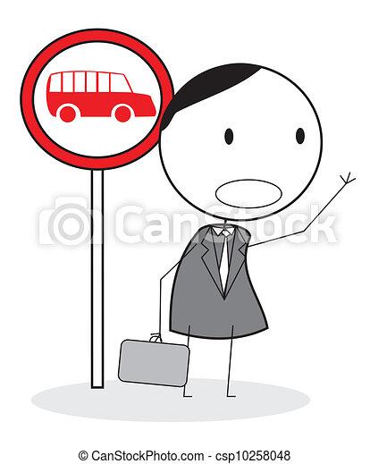 λεωφορείο , αναμονή  - csp10258048