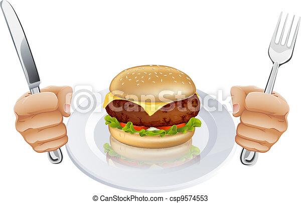 λουκάνικο , πεινασμένος  - csp9574553