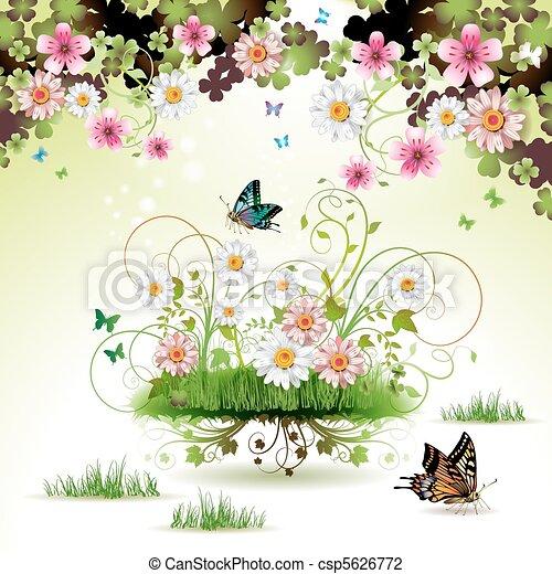 λουλούδια , γρασίδι  - csp5626772