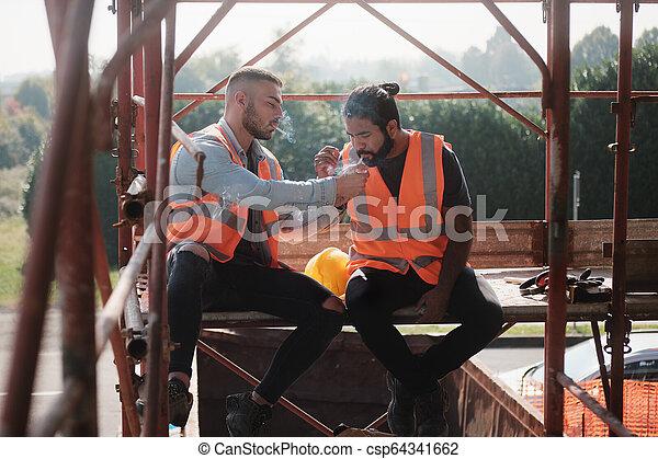 λόγια , δουλευτής , σπάζω , τσιγάρο , δομή , κάπνισμα  - csp64341662