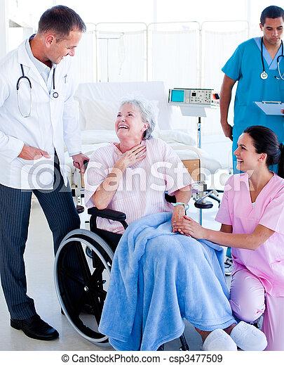λόγια , ιατρικός , ασθενής , ζεύγος ζώων  - csp3477509