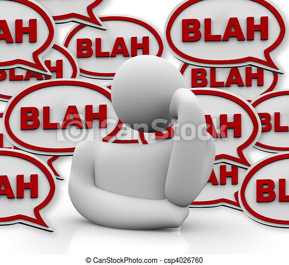 λόγια , others , ενόχλησα , πρόσωπο  - csp4026760