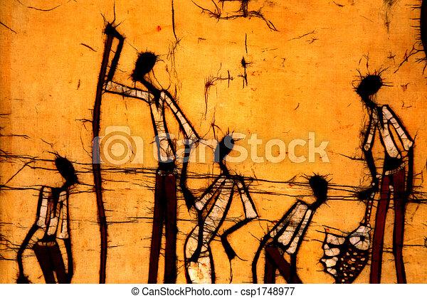 μάθοδος τυπώματος υφασμάτων , τέχνη , αφρικανός  - csp1748977