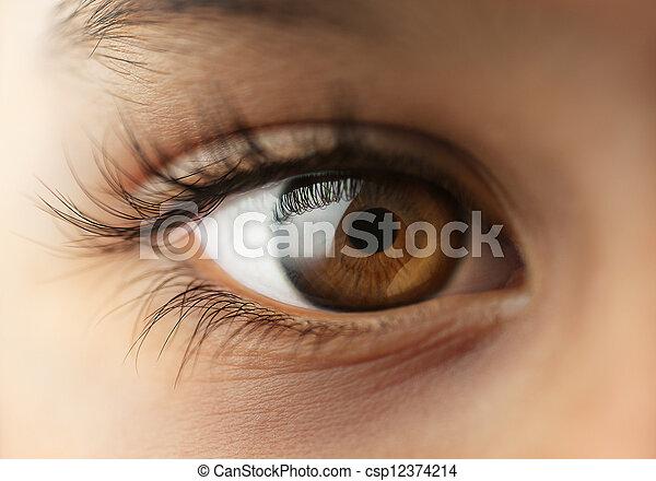 μάτι , άπειρος , macro , - , ανθρώπινος , κλείνω  - csp12374214