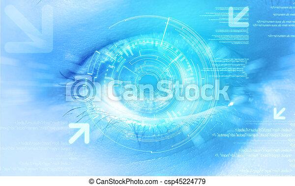 μάτι , μεταχειριζόμενος , φόντο , επεμβαίνω , τεχνολογία , ακαταλαβίστικος  - csp45224779