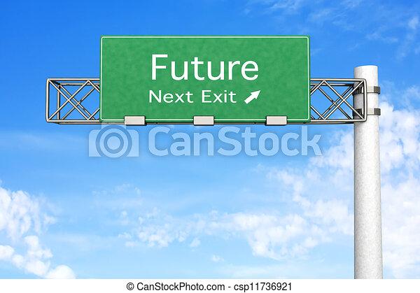 μέλλον , - , δημοσιά αναχωρώ  - csp11736921