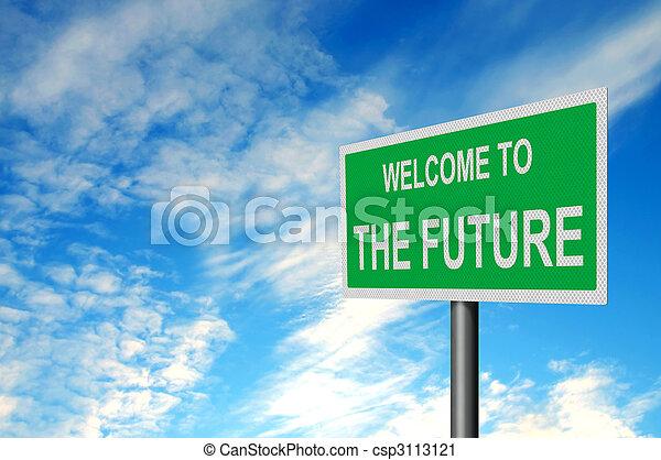 μέλλον , ελεύθερος αναχωρώ  - csp3113121