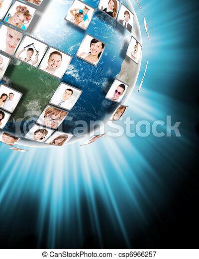 μέσα ενημέρωσης , γενική ιδέα , τεχνολογία  - csp6966257