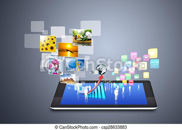 μέσα ενημέρωσης , κοινωνικός , τεχνική ορολογία απεικόνιση  - csp28633883