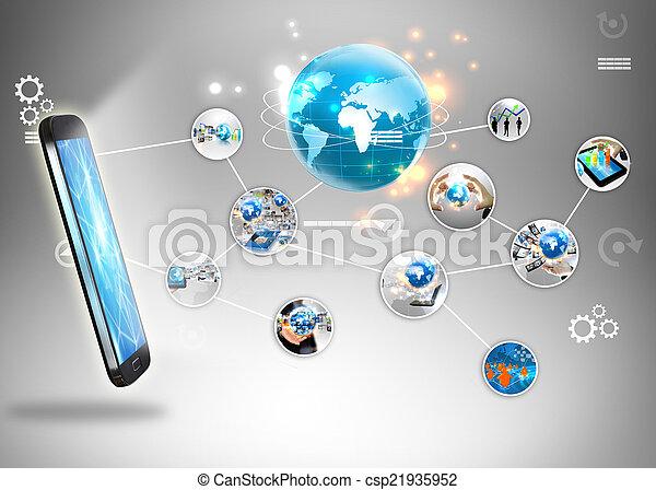μέσα ενημέρωσης , κοινωνικός , concept. - csp21935952