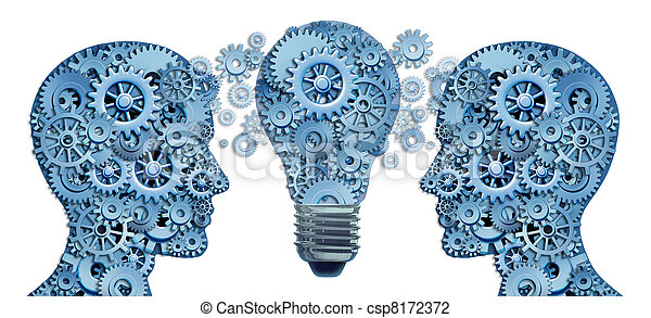 μαθαίνω , καθοδηγώ , στρατηγική , καινοτομία  - csp8172372