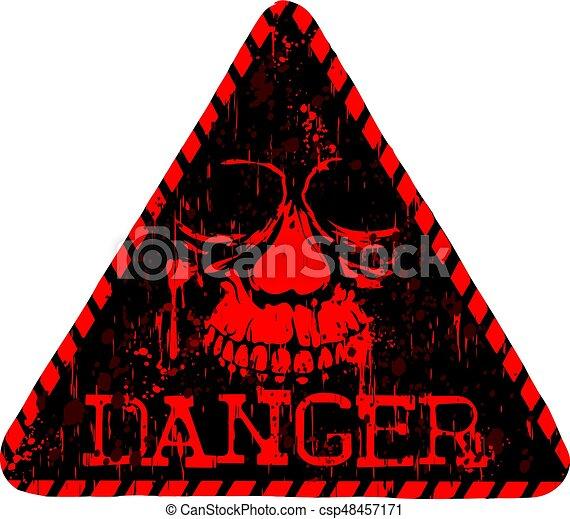 μαύρο αριστερός , κρανίο , κίνδυνοs  - csp48457171
