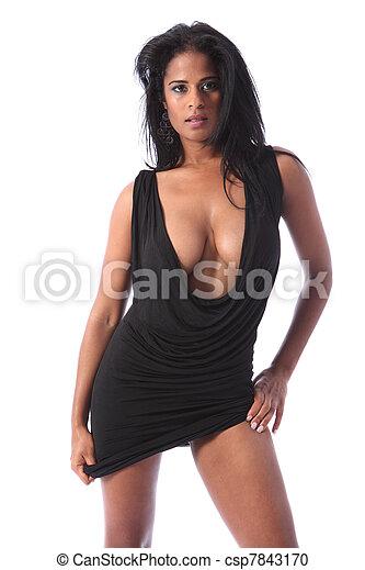 μεγάλος , γυναίκα , αίγλη , αμερικανός , αφρικανός , σχίσιμο  - csp7843170
