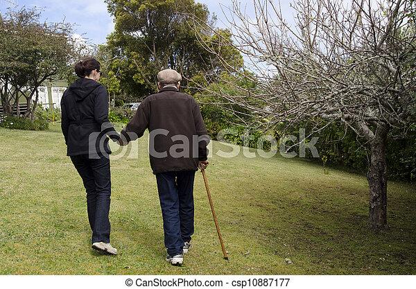 μερίδα φαγητού , βοηθώ , ηλικιωμένος ακόλουθοι  - csp10887177