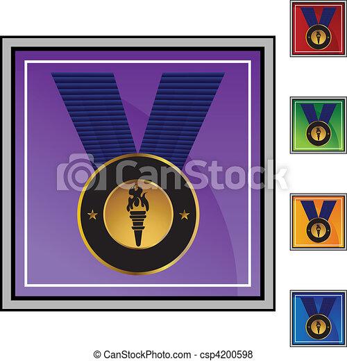μετάλλιο , χρυσός  - csp4200598