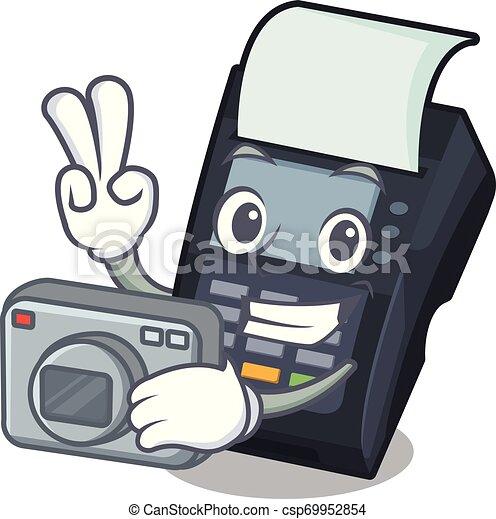 μηχανή , edc, σχήμα , γελοιογραφία , φωτογράφος  - csp69952854