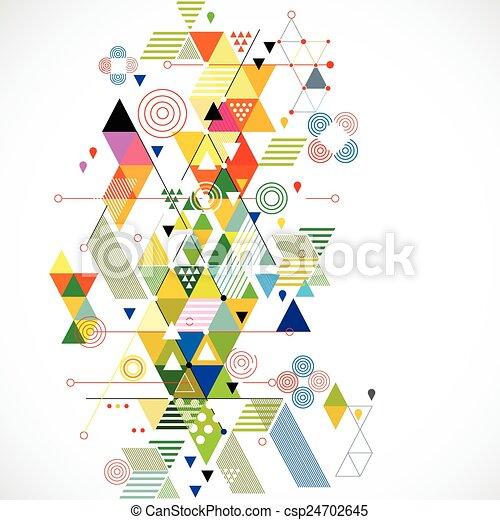 μικροβιοφορέας , γραφικός , αφαιρώ , εικόνα , δημιουργικός , φόντο , γεωμετρικός  - csp24702645