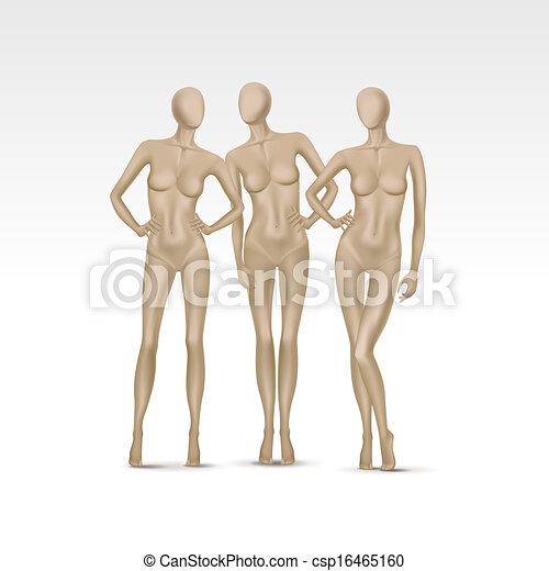 μικροβιοφορέας , θέτω , απομονωμένος , γυναίκα , μαννεκέν  - csp16465160