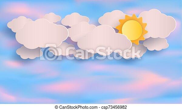 μικροβιοφορέας , θαμπάδα , evening., sky., γαλάζιο αβαρής , ήλιοs  - csp73456982